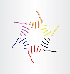 Human hands all races vector