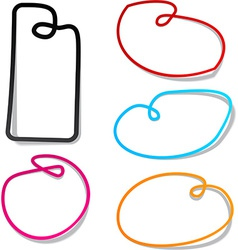 Noose notification paper frames vector