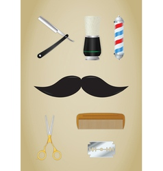 Barber shop icons set vector