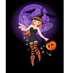 Halloween witch vector
