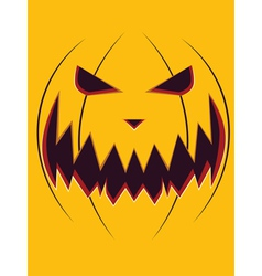 Scary pumpkin face3 vector