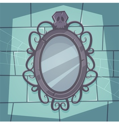 Creepy mirror vector