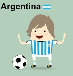 World cup 2014 argentina national football team vector