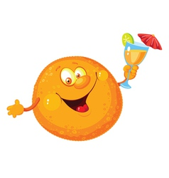 Orange cartoon vector