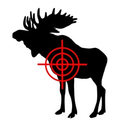 Moose crosshair vector