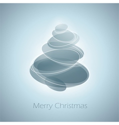 Abstract shiny christmas tree in light blue vector