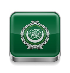 Metal icon of arab league vector
