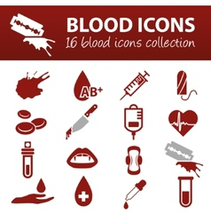 Blood icons vector