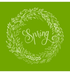 Hand drawn spring wreath vector