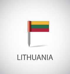 Lithuania flag pin vector