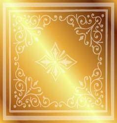 Vintage border background antique ornament gold vector