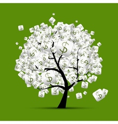 Money tree concept with dollar signs for your vector