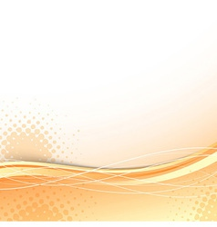 Transparent orange wave background template vector