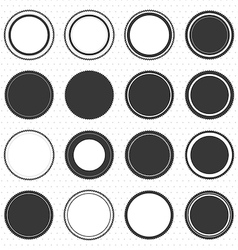 Set of blank retro vintage badges and labels vector
