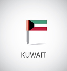 Kuwait flag pin vector