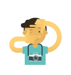 Creative photographer vector