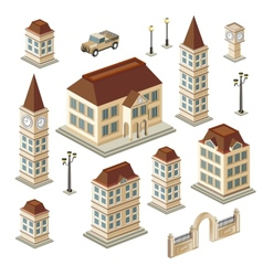 Antique buildings vector