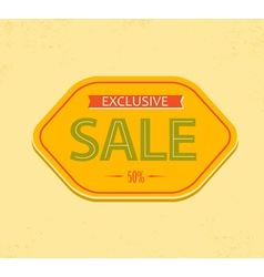 Vintage sale label vector