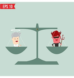 Balance of good and bad concept - - eps10 vector