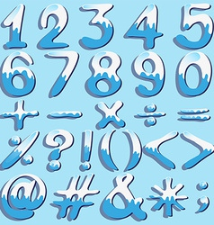 Colored numbers and symbols vector