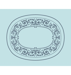 Vintage border frame with retro ornament pattern vector