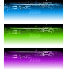 Abstract vibrant banners vector