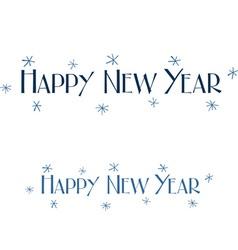 Happy new year wish vector