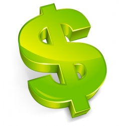 Dollar symbol vector