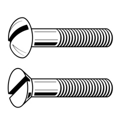 illustration of screws vector