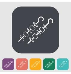 Kebab icon vector