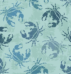 Seamless pattern of crabs vector
