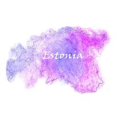 Estonia watercolor map vector