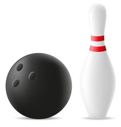 Bowling ball and skittle vector