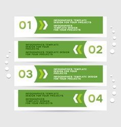 Infographics design with green banners vector
