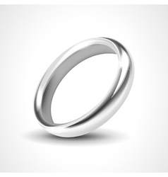 Silver ring isolated on white background vector