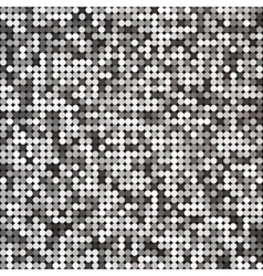 Silver abstract retro vintage pixel mosaic vector