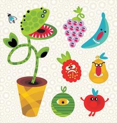Vegetation cartoons vector