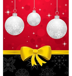 Christmas card or background with set balls - vector