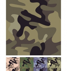 Seamless camouflage background vector