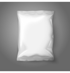 Blank white realistic foil snack pack isolated on vector