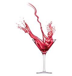 Martini pour-dancer vector