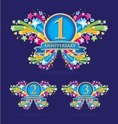 Anniversary vector