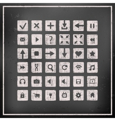 Collection of icons web design elements vector