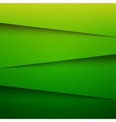 Green paper layers abstract background vector