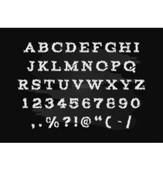 Hand drawn chalk alphabet  capital letters vector