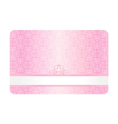 Pink card with vintage pattern vector