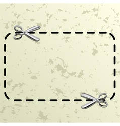 Coupon border vector