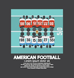American football players top view vector