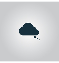 Cloud thought icon vector