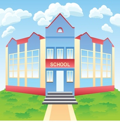 Modern school building vector